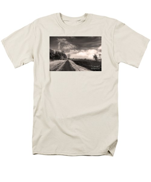 Men's T-Shirt  (Regular Fit) featuring the photograph A Mist Over The Missouri Bottoms by William Fields