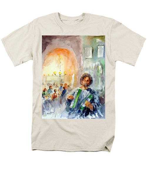Men's T-Shirt  (Regular Fit) featuring the painting A Night At The Tavern by Faruk Koksal