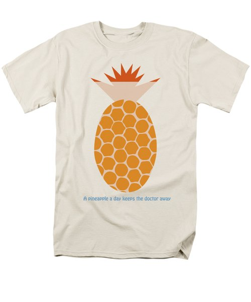 Men's T-Shirt  (Regular Fit) featuring the painting A Pineapple A Day Keeps The Doctor Away by Frank Tschakert