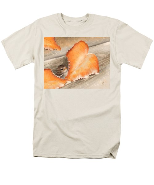 Men's T-Shirt  (Regular Fit) featuring the painting A Safe Place by Veronica Minozzi