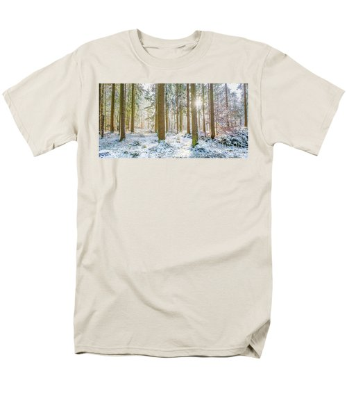 Men's T-Shirt  (Regular Fit) featuring the photograph A Sunny Day In The Winter Forest by Hannes Cmarits