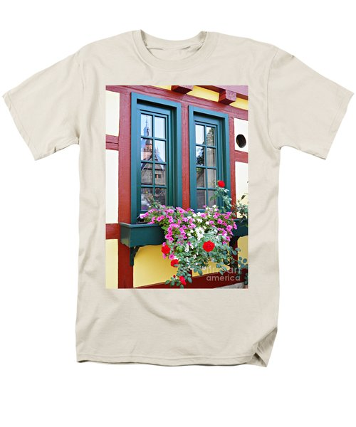 A Window In Eltville  2 Men's T-Shirt  (Regular Fit) by Sarah Loft
