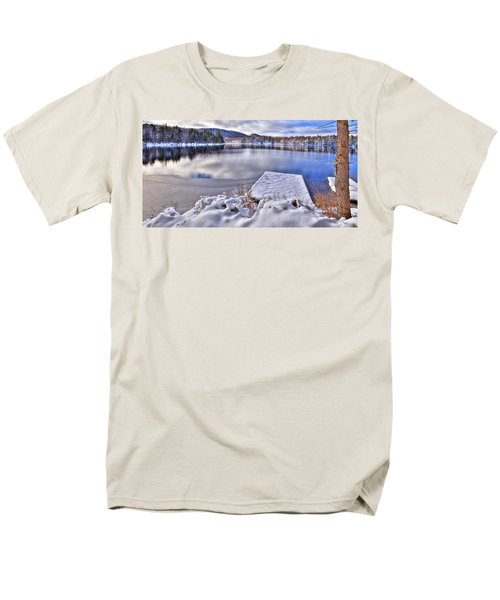 Men's T-Shirt  (Regular Fit) featuring the photograph A Winter Day On West Lake by David Patterson