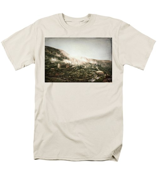 Abandoned Hotel In The Fog Men's T-Shirt  (Regular Fit) by Robert FERD Frank