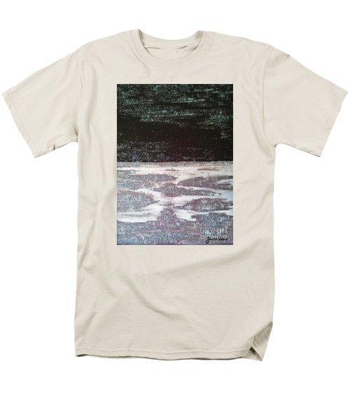 Men's T-Shirt  (Regular Fit) featuring the painting Abstract Nail Polish Jg7 by Jasna Gopic