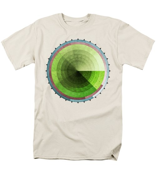 Abstract Rings Of Green Men's T-Shirt  (Regular Fit) by Phil Perkins