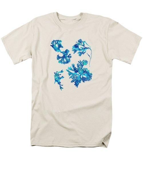 Men's T-Shirt  (Regular Fit) featuring the mixed media Abstract Seaweed Art Rhodomenia Laciniata by Christina Rollo