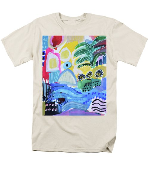 Abstract Tropical Landscape Men's T-Shirt  (Regular Fit) by Amara Dacer