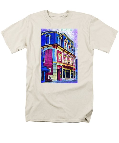 Men's T-Shirt  (Regular Fit) featuring the digital art Abstract Urban by Kirt Tisdale
