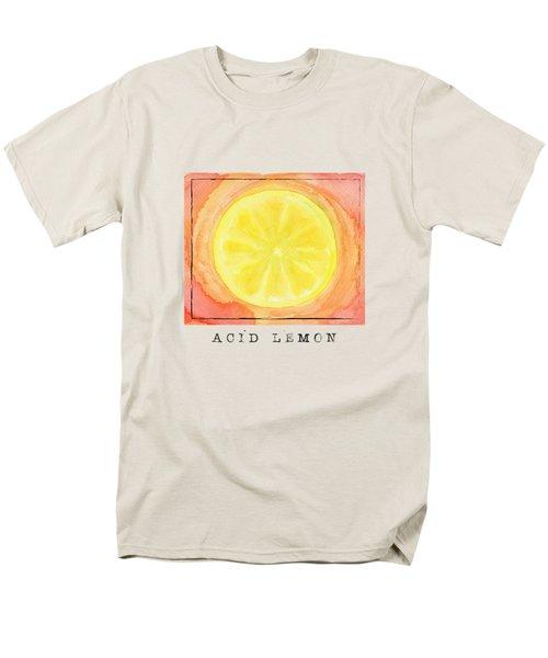 Acid Lemon Men's T-Shirt  (Regular Fit) by Kathleen Wong