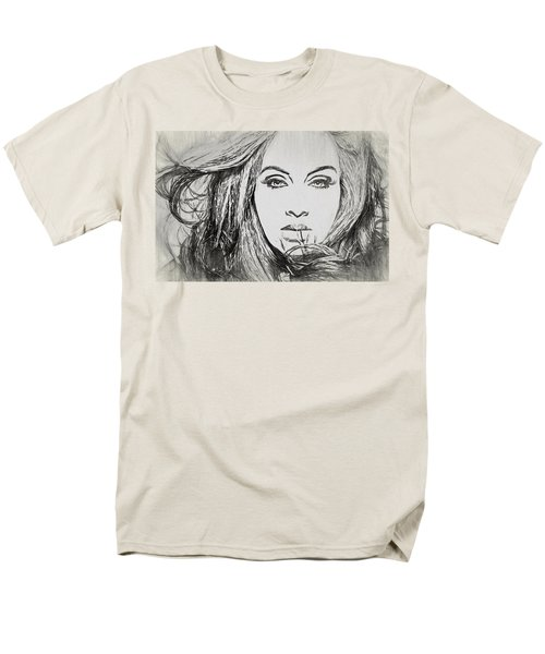 Adele Charcoal Sketch Men's T-Shirt  (Regular Fit) by Dan Sproul