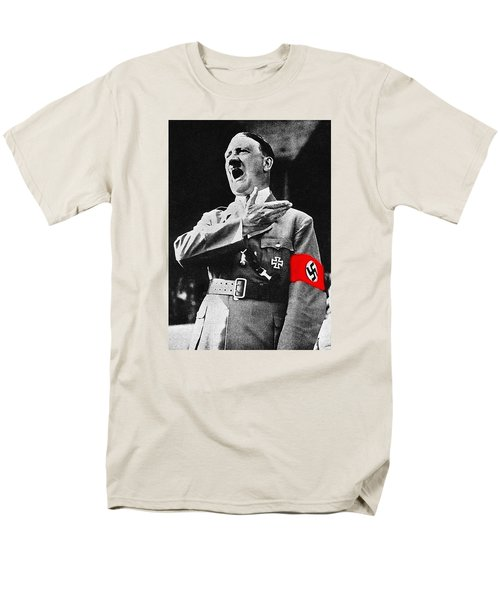 Adolf Hitler Ranting 1  Men's T-Shirt  (Regular Fit) by David Lee Guss