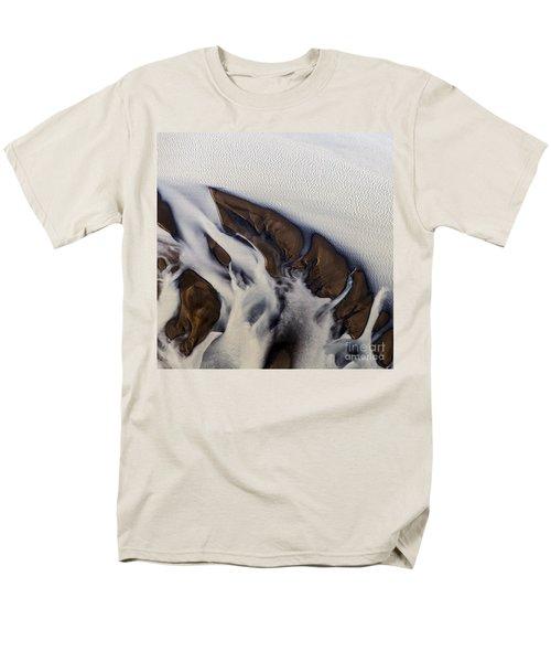 Aerial Photo Thjosa Iceland Men's T-Shirt  (Regular Fit) by Gunnar Orn Arnason