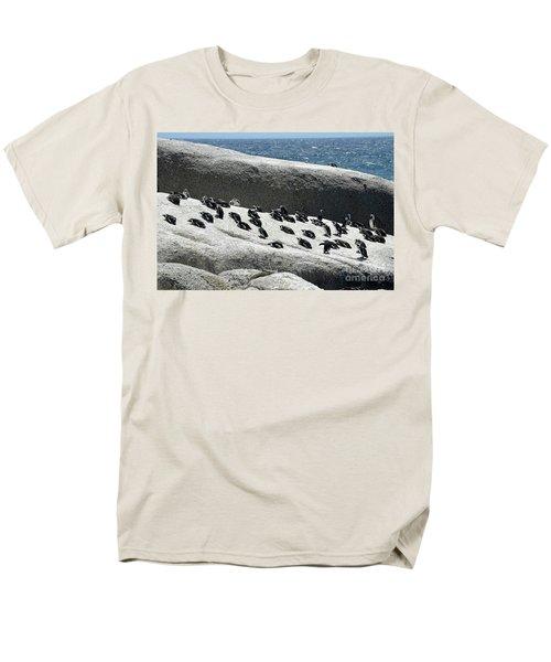 Men's T-Shirt  (Regular Fit) featuring the digital art African Penguin 4 by Eva Kaufman