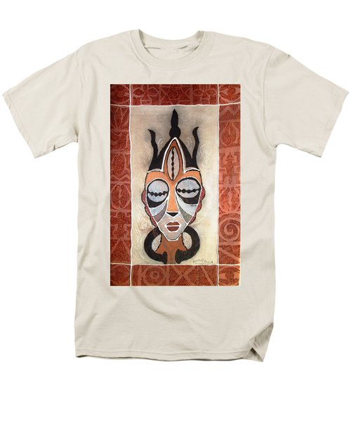 Aje Mask Men's T-Shirt  (Regular Fit) by Bankole Abe