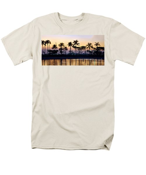 Men's T-Shirt  (Regular Fit) featuring the photograph Ala Wai Harbor by Gina Savage