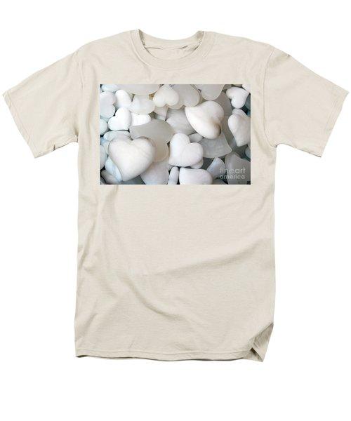 Alabaster Hearts Men's T-Shirt  (Regular Fit) by Ana Mireles