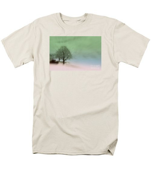 Men's T-Shirt  (Regular Fit) featuring the photograph Almost A Dream - Winter In Switzerland by Susanne Van Hulst