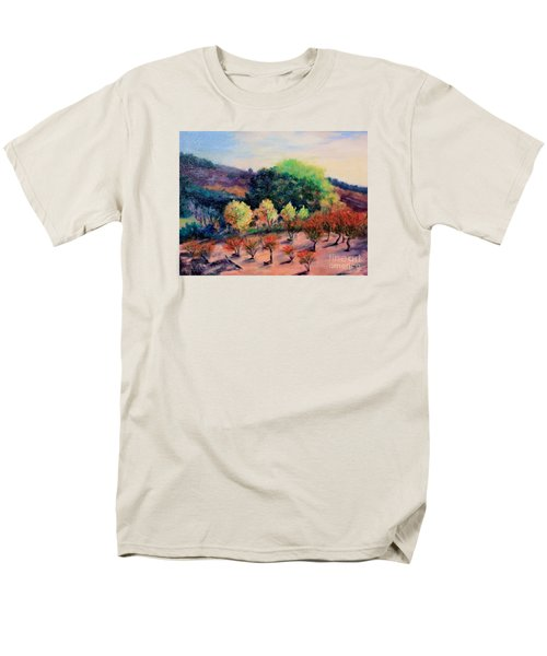 Men's T-Shirt  (Regular Fit) featuring the painting Along The Highway by Marcia Dutton
