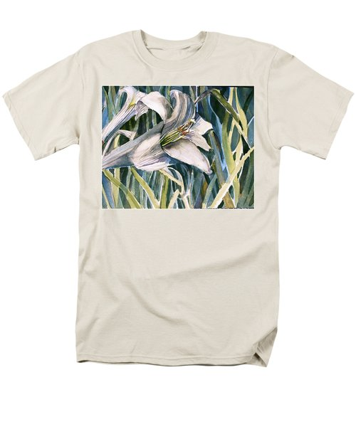 Men's T-Shirt  (Regular Fit) featuring the painting An Easter Lily by Mindy Newman
