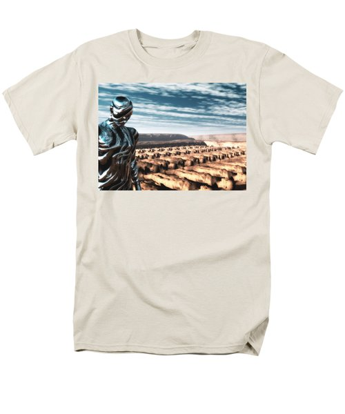 Men's T-Shirt  (Regular Fit) featuring the digital art An Untitled Future by John Alexander