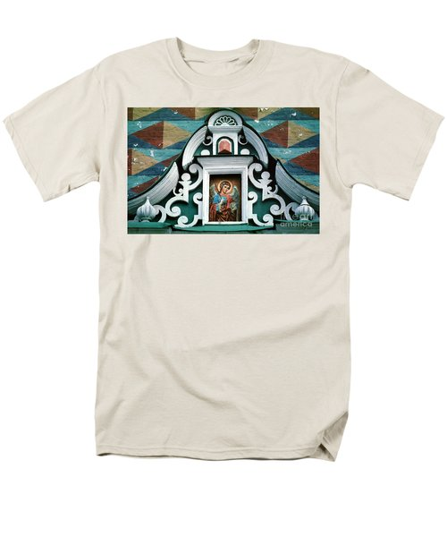 Angel Icon At Trinity Lavra Of St. Sergius Monastery Men's T-Shirt  (Regular Fit) by Wernher Krutein