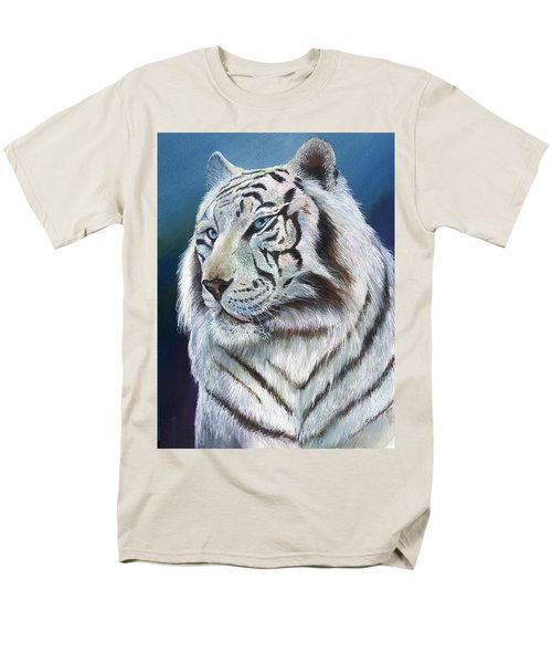 Men's T-Shirt  (Regular Fit) featuring the painting Angel The White Tiger by Sherry Shipley