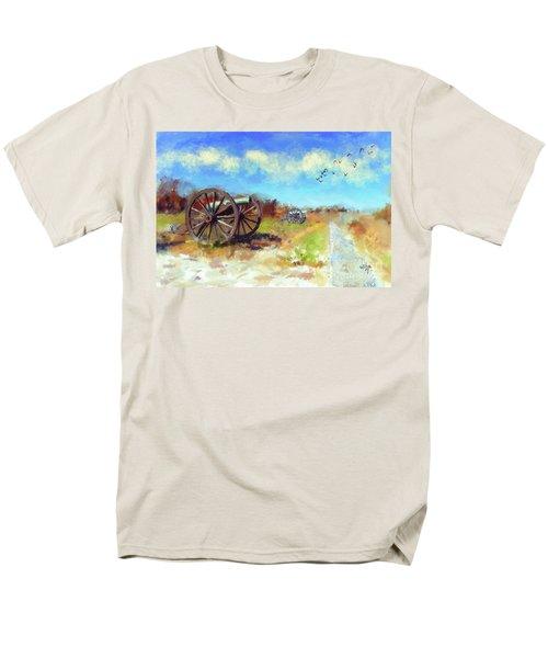 Men's T-Shirt  (Regular Fit) featuring the digital art Antietam Under Blue Skies  by Lois Bryan
