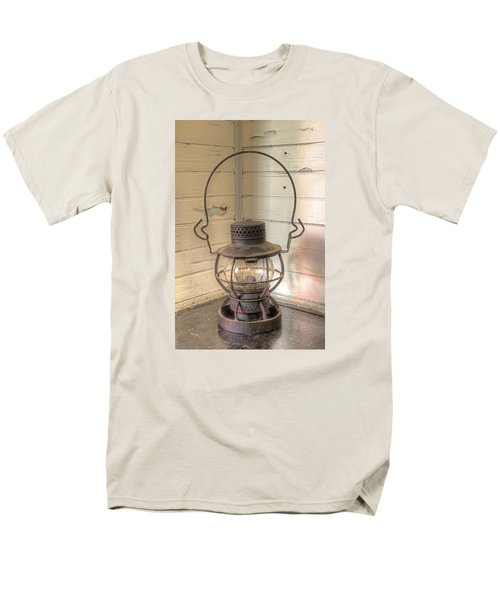 Men's T-Shirt  (Regular Fit) featuring the photograph Antique Weighted Kerosene Lantern by Gary Slawsky