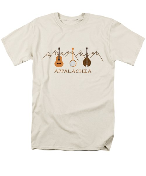 Men's T-Shirt  (Regular Fit) featuring the digital art Appalachia Mountain Music by Heather Applegate