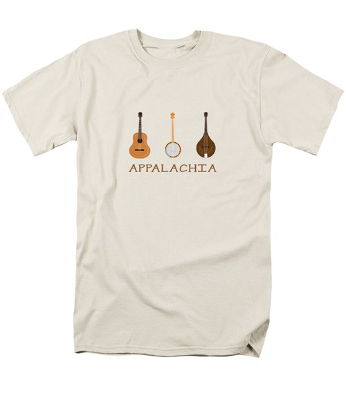 Men's T-Shirt  (Regular Fit) featuring the digital art Appalachia Music by Heather Applegate