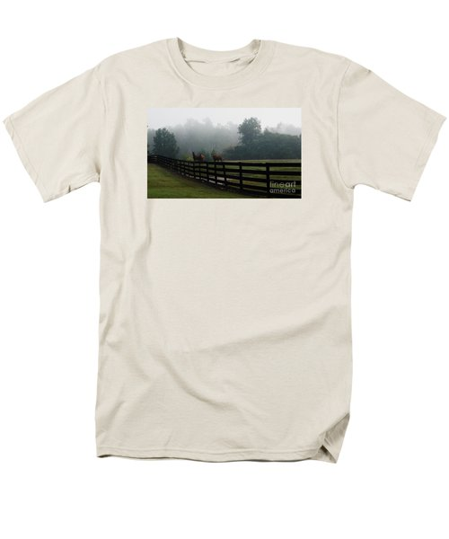 Arabian Horse Landscape Men's T-Shirt  (Regular Fit) by Debra Crank
