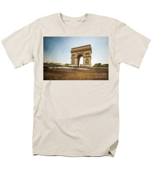Men's T-Shirt  (Regular Fit) featuring the photograph Arc De Triumph by Hannes Cmarits