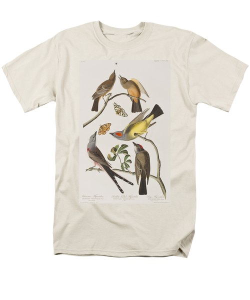 Arkansaw Flycatcher Swallow-tailed Flycatcher Says Flycatcher Men's T-Shirt  (Regular Fit) by John James Audubon