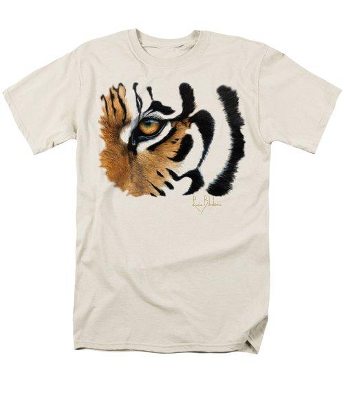 Tiger Eye Men's T-Shirt  (Regular Fit) by Lucie Bilodeau