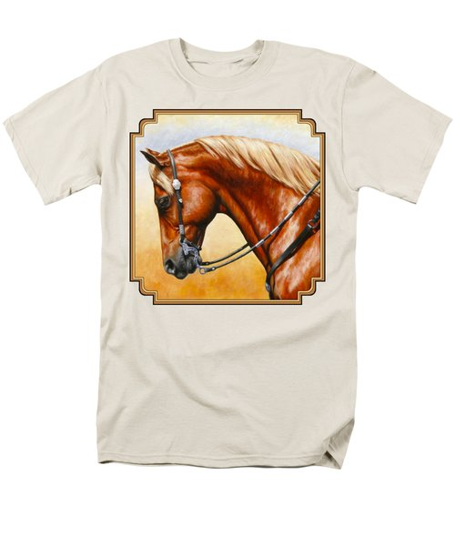 Precision - Horse Painting Men's T-Shirt  (Regular Fit) by Crista Forest