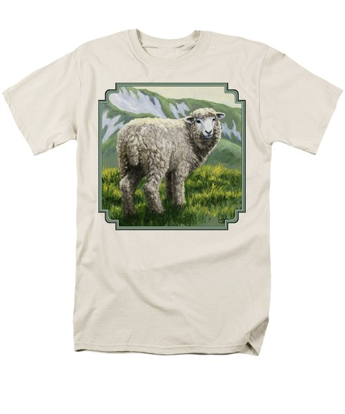 Highland Ewe Men's T-Shirt  (Regular Fit) by Crista Forest