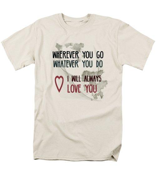 Men's T-Shirt  (Regular Fit) featuring the digital art Wherever You Go by Jutta Maria Pusl