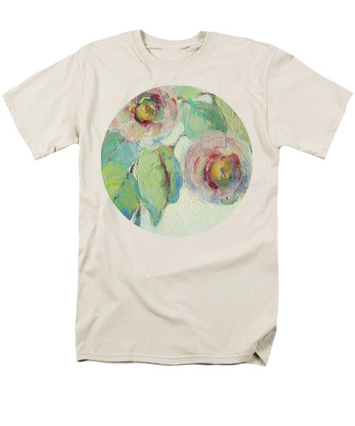 Impressionist Roses  Men's T-Shirt  (Regular Fit) by Mary Wolf