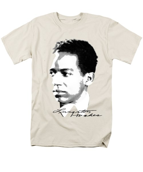 Langston Hughes Men's T-Shirt  (Regular Fit) by Asok Mukhopadhyay