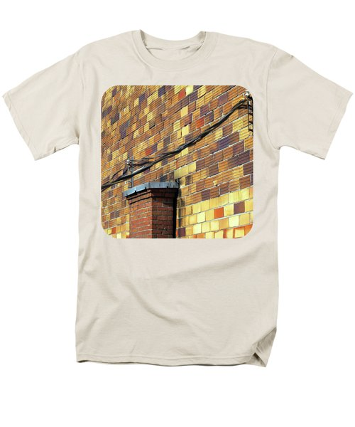 Men's T-Shirt  (Regular Fit) featuring the photograph Bricks And Wires by Ethna Gillespie
