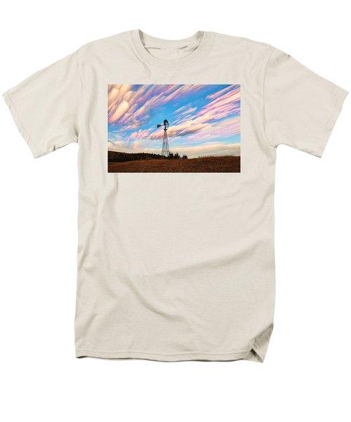 Men's T-Shirt  (Regular Fit) featuring the photograph Crazy Wild Windmill by Bill Kesler
