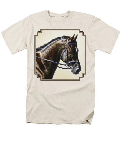 Dressage Horse - Concentration Men's T-Shirt  (Regular Fit) by Crista Forest