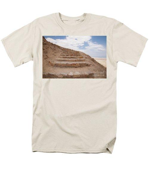 Men's T-Shirt  (Regular Fit) featuring the photograph Stairway To Heaven - Masada, Judean Desert, Israel by Yoel Koskas
