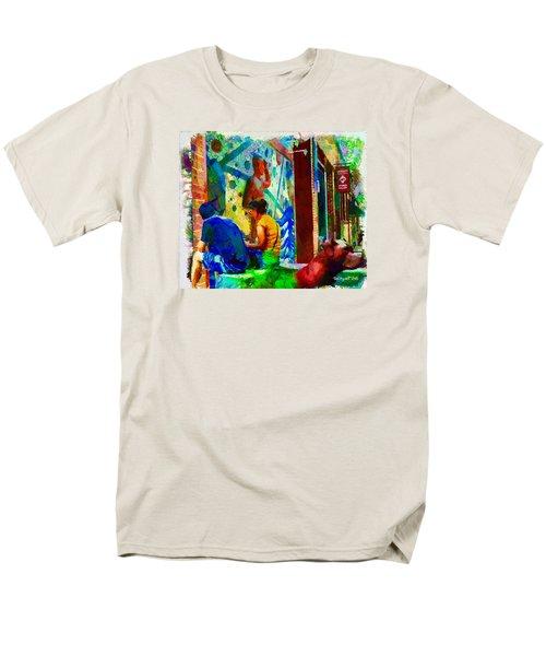 Ashville Art District Men's T-Shirt  (Regular Fit) by Ted Azriel