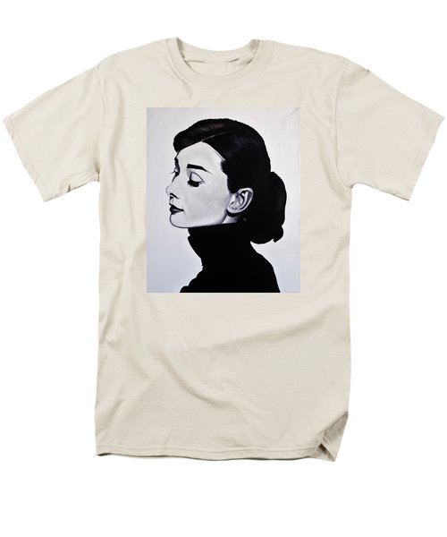 Audrey Hepburn 1 Men's T-Shirt  (Regular Fit) by Brian Broadway