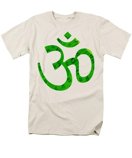 Men's T-Shirt  (Regular Fit) featuring the painting Aum Symbol Digital Painting by Georgeta Blanaru
