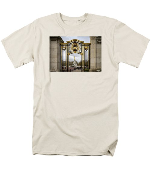Men's T-Shirt  (Regular Fit) featuring the photograph Australia Gate Towards Queen Victoria's Statue by Shirley Mitchell