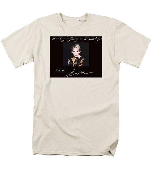 Autographed Portrait  Men's T-Shirt  (Regular Fit) by Laura Michelle Corbin