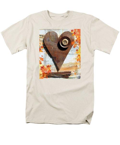 Autumn Heart Men's T-Shirt  (Regular Fit) by France Laliberte